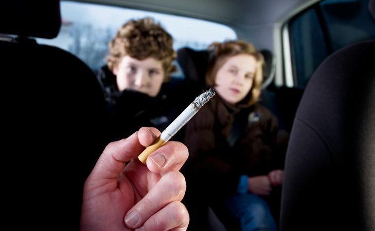 التدخين في السيارة