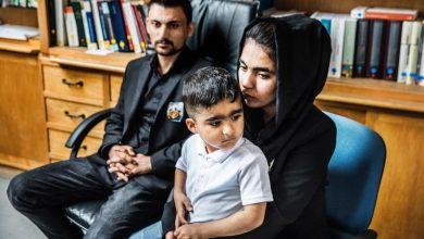 صورة عائلة  الطفلة العراقية مودة يحصلان علي اقامة في بلجيكا !