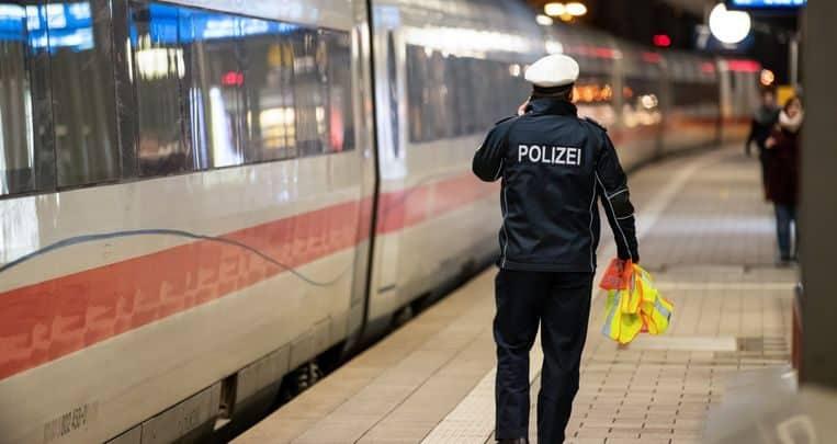 محطة قطار في ألمانيا