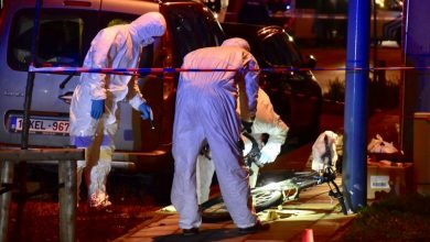 صورة اطلاق النار على شاب في الشارع في مدينة روسيلاري في بلجيكا