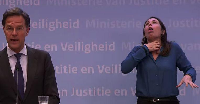 مترجمة للصم ورئيس الوزراء الهولندي روتي