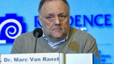 صورة مارك فان رانست : من شبه المؤكد سيكون هناك وفيات بسبب فيروس كورونا في بلجيكا