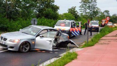 تصادم سيارة في هولندا