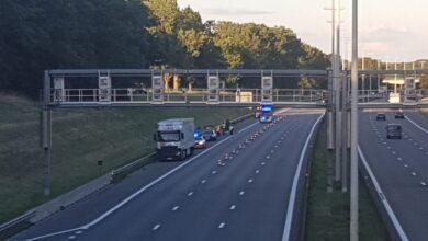 حادث سير على الطريق السريع