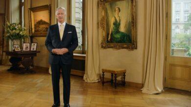 صورة خطاب الملك البلجيكي فيليب في يوم العيد الوطني للمملكة البلجيكية