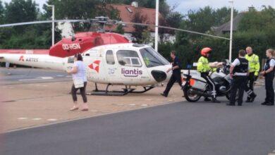 صورة اصابة رجل أمن بجراح خطيرة بسبب عربة في متجر كارفور في بلجيكا