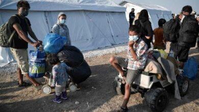 صورة فيروس كورونا يعصف بالمخيم المؤقت الجديد بجزيرة ليسبوس اليونانية