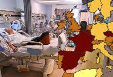 صورة بلجيكا الأن تتحول إلى اللون الأحمر على خريطة كورونا الجديدة