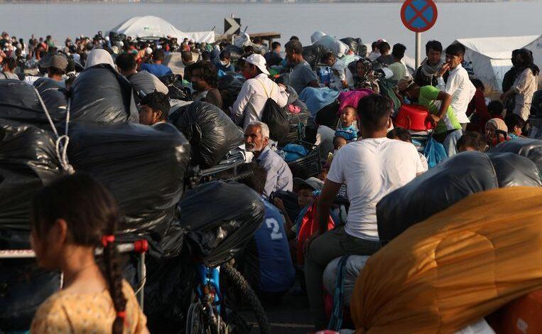 اصابة لاجئين بكورونا في اليونان