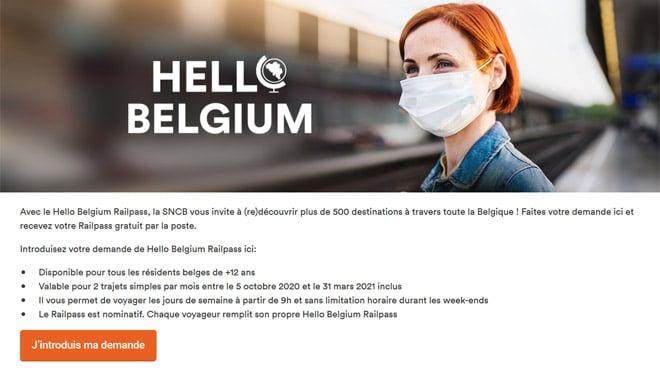 تذاكر القطار المجانية في بلجيكا