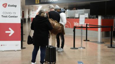 حظر السفر في بلجيكا