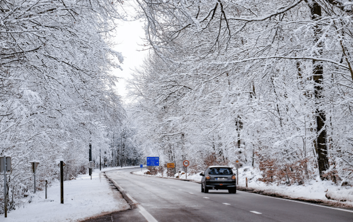 الثلوج في بلجيكا اليوم