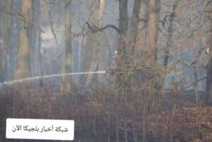 حريق في بلجيكا اليوم