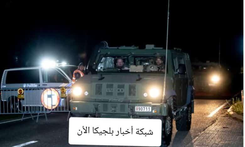 سيارة الجيش البلجيكي تبحث عن الجندي الهارب