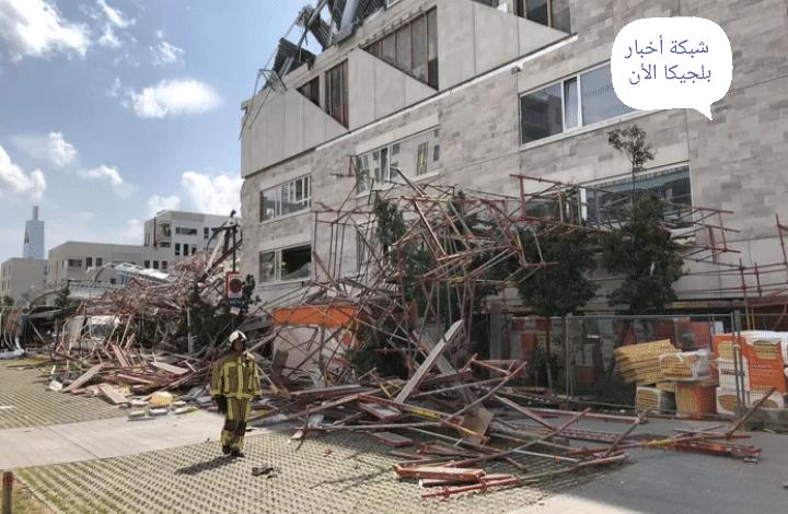 مصرع شخص بعد انهيار مدرسة قيد الإنشاء في أنتويرب جزئيًا