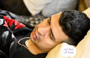 لاجئ مضرب عن الطعام في بروكسل