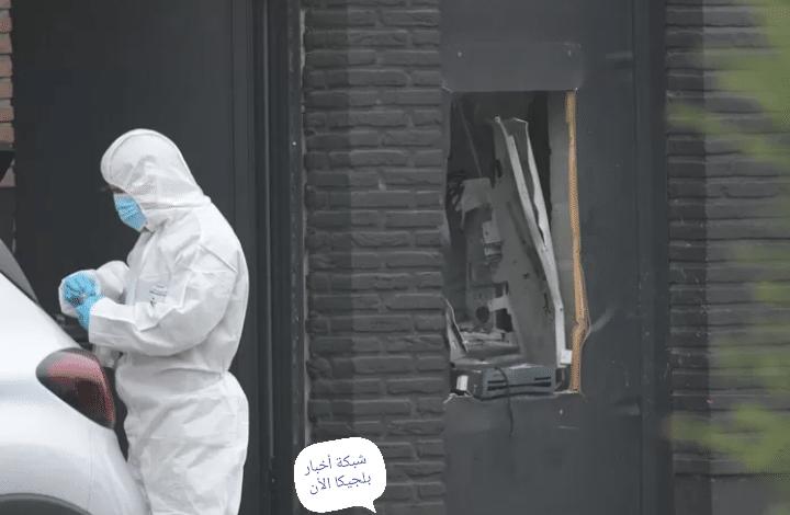 محاولة سرقة بنك أكسا في بلجيكا عن طريق الهجوم بالمتفجرات