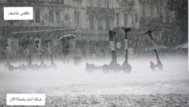 سقوط امطار في بلجيكا