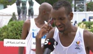 بشير عبدي لاجئ صومالي في بلجيكا يحصل على الميدالية الفضية