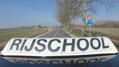 حادث تصادم أثناء امتحان رخصة قيادة في بلجيكا