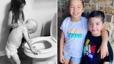 شفاء الطفل الذي انتشرت صورته حول العالم من السرطان